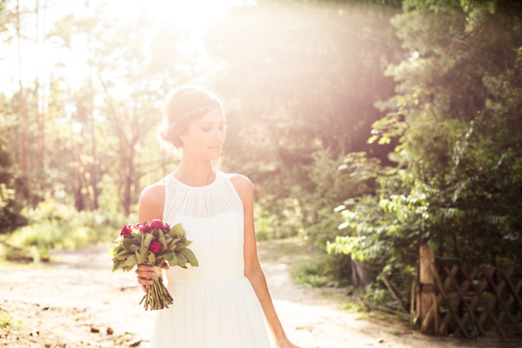 Braut im lezten Sonnenlicht